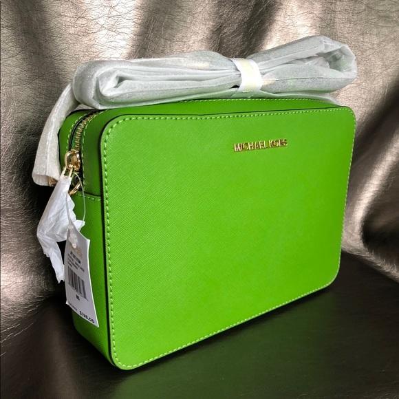 51eceaa87c1f MICHAEL Michael Kors Bags | Michael Kors Saffiano Leather Jet Set ...